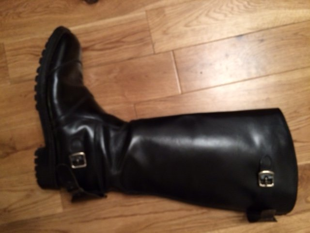 Vintage Police Issue Motorcycle Boots Size 8 Uk The Triumph Forum