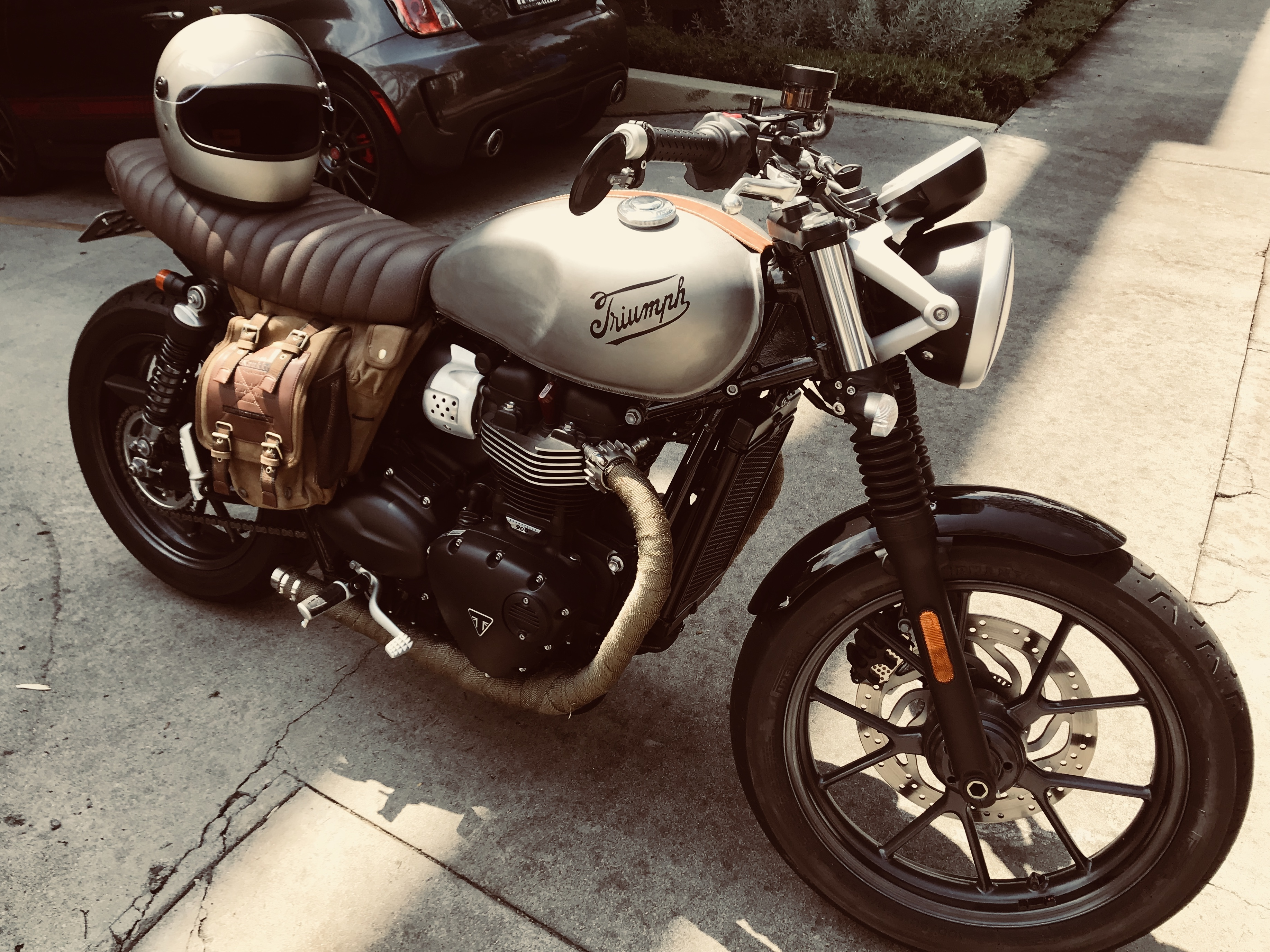 Drag Bars / Aftermarket Handlebars For St | The Triumph Forum