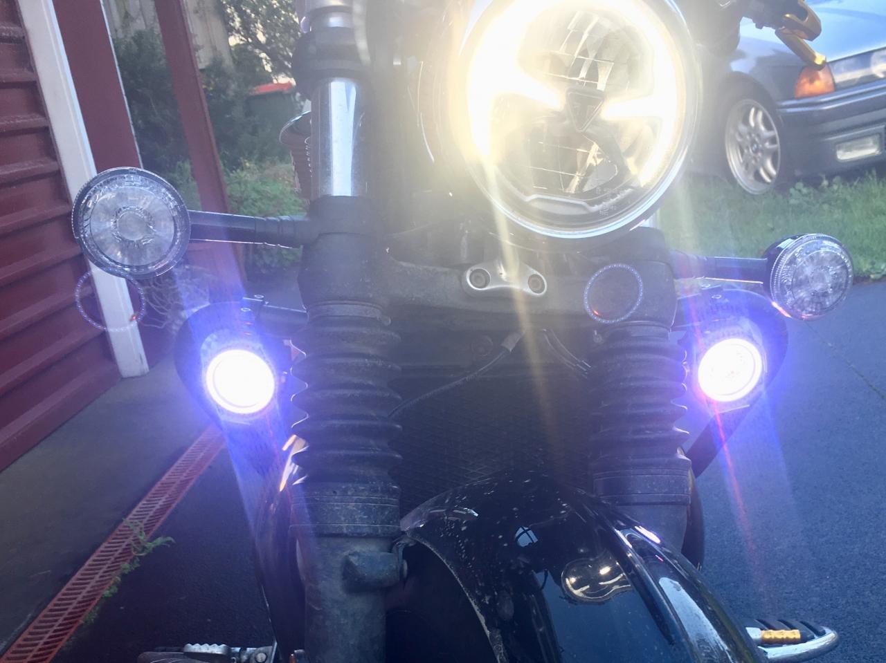 LED ride lights reposition