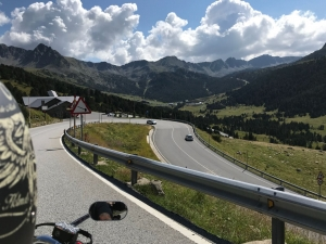 Riding through the Pyrenees